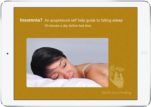 Acupressure sleep help ipad title screen